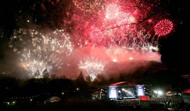 fuegos artificiales fin de año edimburgo