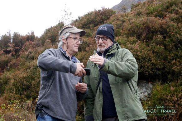 tommy y gordon de caledonian light en las highlands de escocia