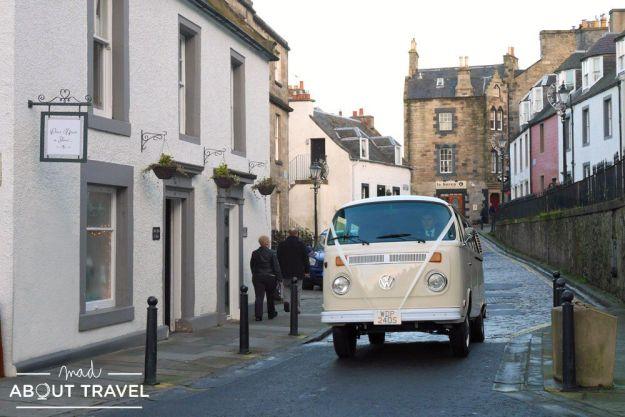 furgoneta VW vintage en Escocia