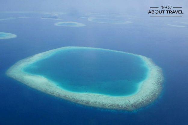 arrecifes de coral en maldivas