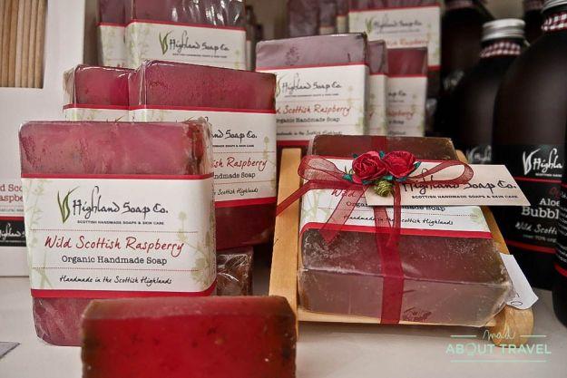 que hacer en pitlochry: compras en Highland Soap