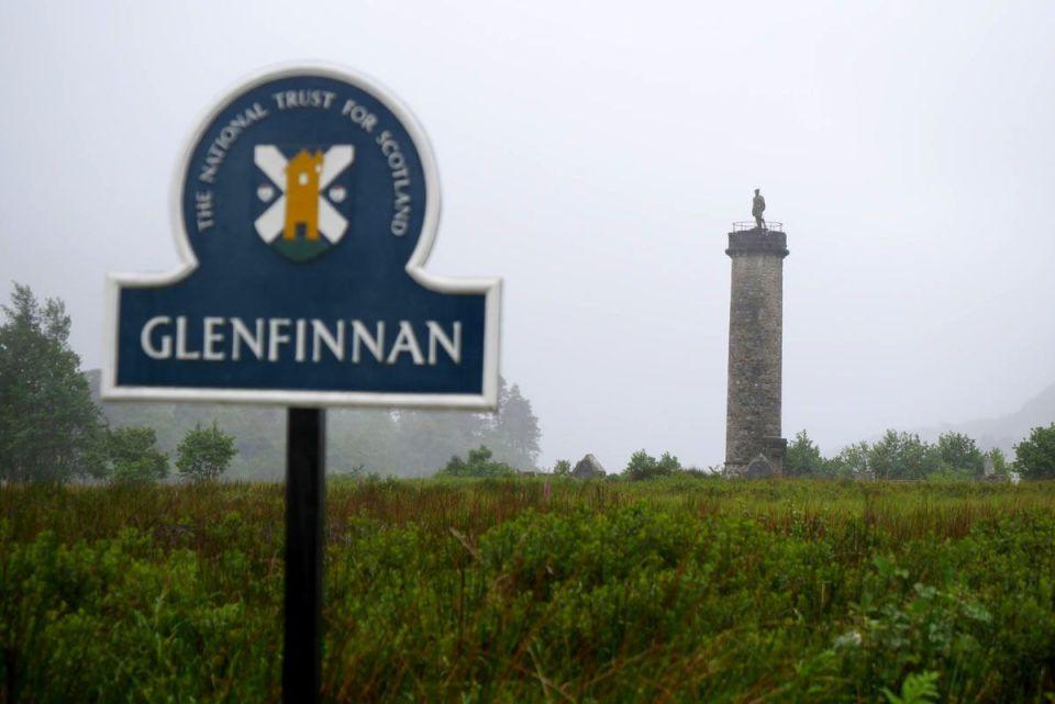 ruta jacobita - monumento de glenfinnan