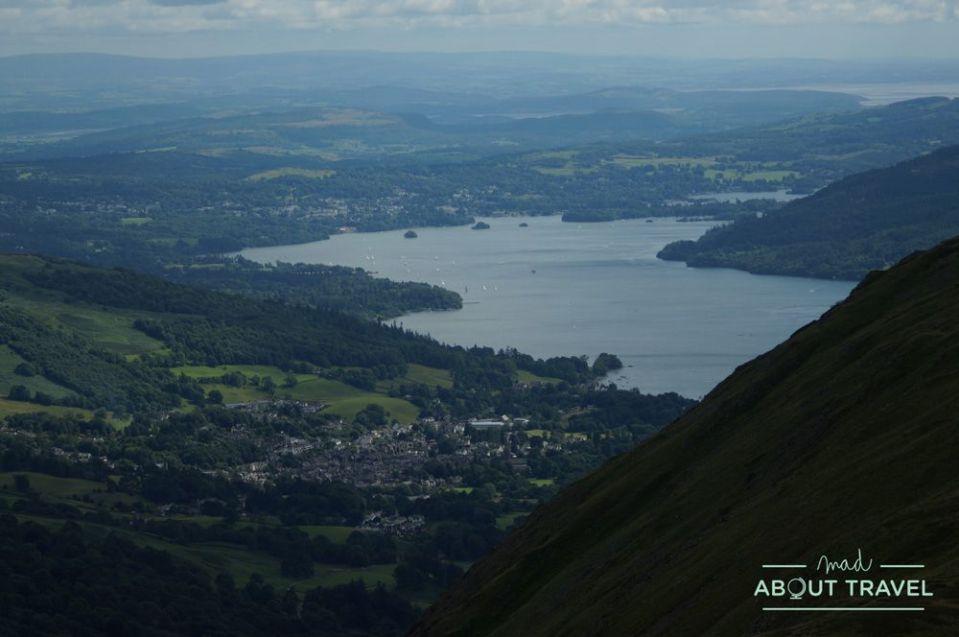 vistas del lago windermere en el lake district inglaterra