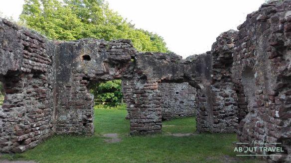 baños romanos en ravenglass, lake district inglaterra