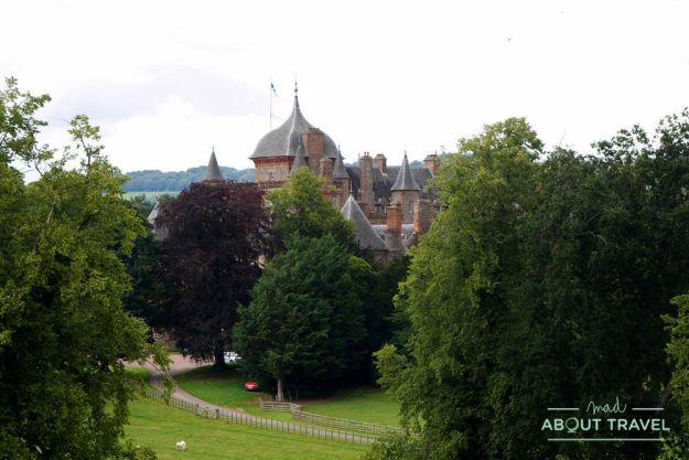 castillo de thirlestane en los borders de escocia