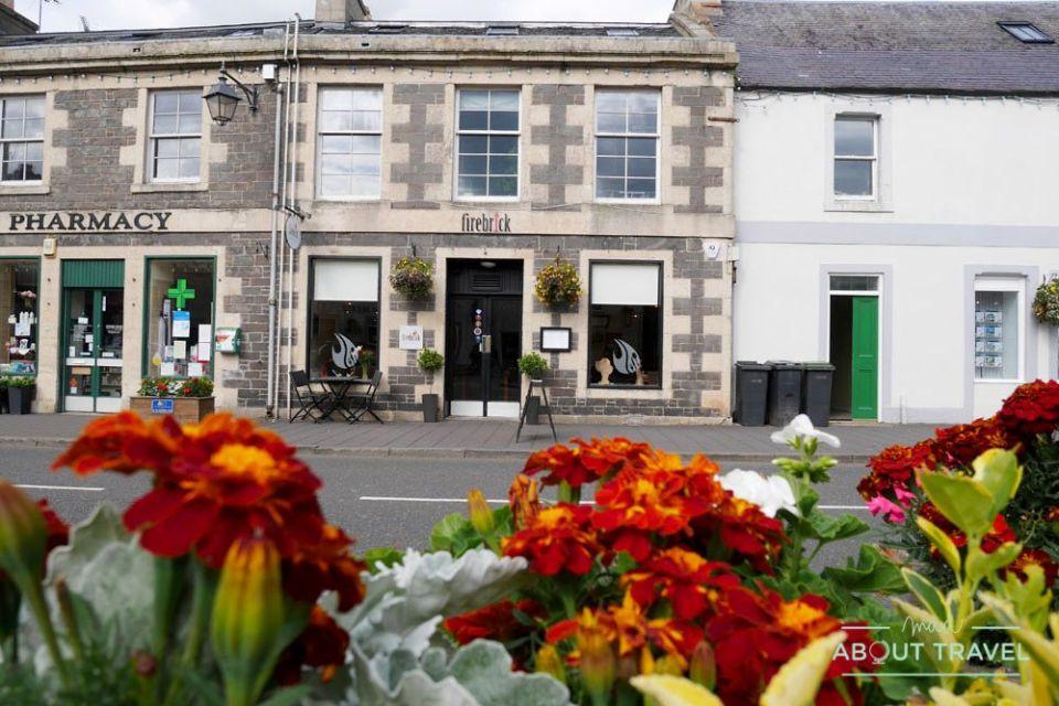 restaurante firebrick brasserie en lauder, borders de escocia