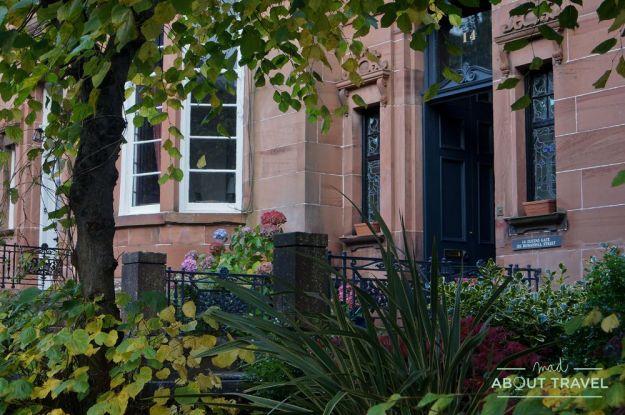 localizaciones de Outlander en Glasgow: la casa de claire y frank