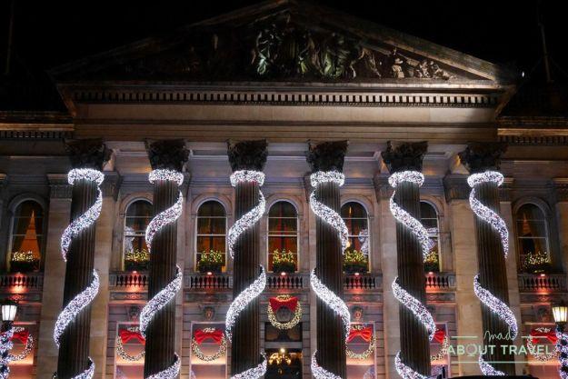 luces de navidad en Edimburgo: the dome