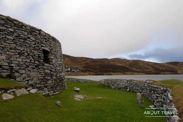 que ver en shetland - broch de Clickimin