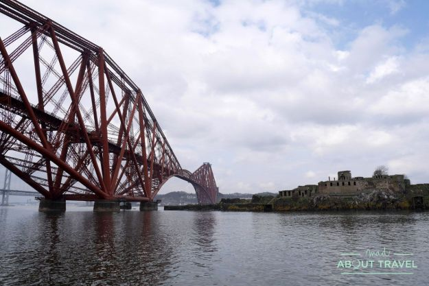 forth rail bridge y la isla de inchmickery