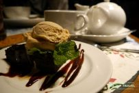 postre en The Hawes Inn, en south queensferry