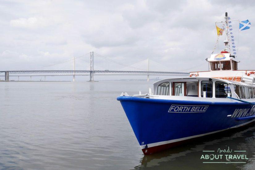 barco forth belle, de forth boat tours, que va a la isla de inchcolm