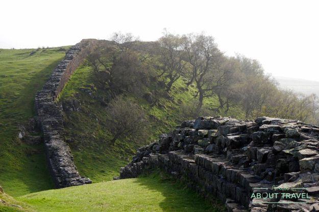 muro de adriano: walltown crags