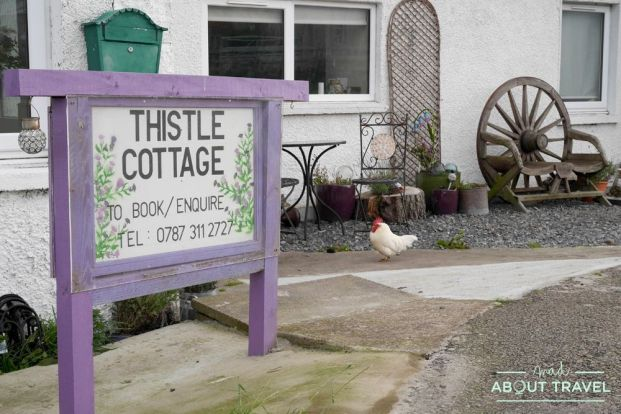donde dormir en la ruta north coast 500: thistle cottage