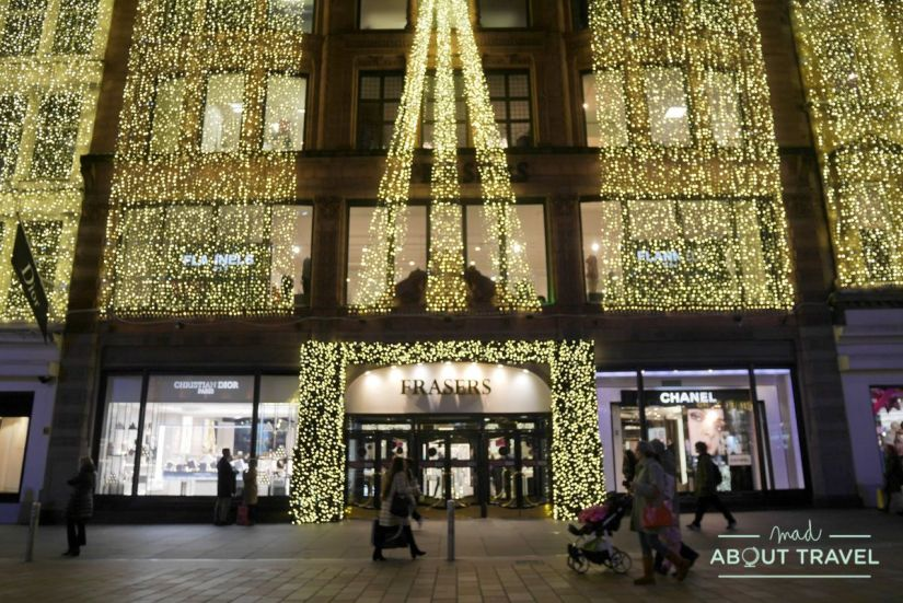 luces de navidad en Glasgow: House of Fraser