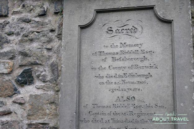 ruta de Harry Potter en Edimbugo: tumba de Lord Voldemort