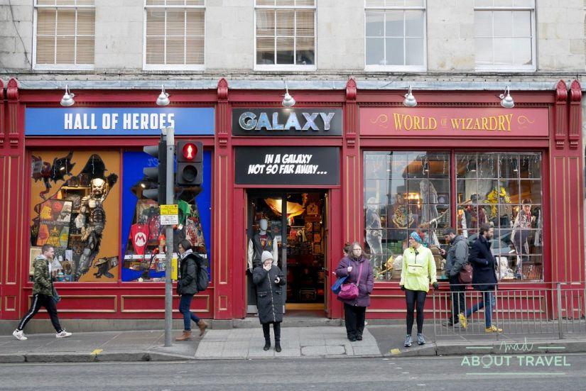 ruta de Harry Potter en Edimbugo: tiendas Harry Potter Galaxy