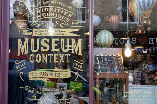 ruta de Harry Potter en Edimbugo: Museum Context, tiendas Harry Potter