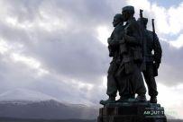 commando memorial en Spean Bridge, Highlands de Escocia