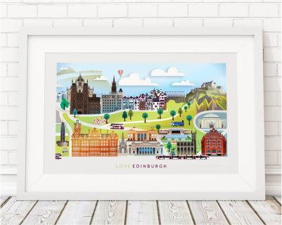 Ilustración de Edimburgo de Love That View