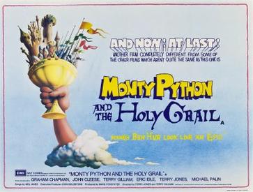 Cartel de la película Monty Python and the holy grail