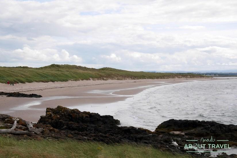 Playa de Aberlady en la costa de Edimburgo