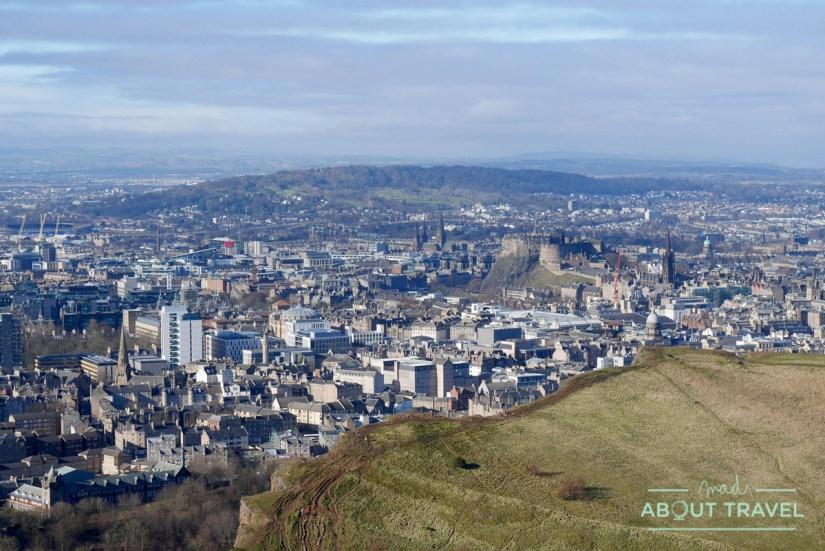 Vistas de Edimburgo desde Arthur's Seat