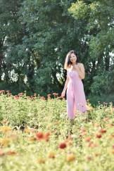 strapless petal jumpsuit