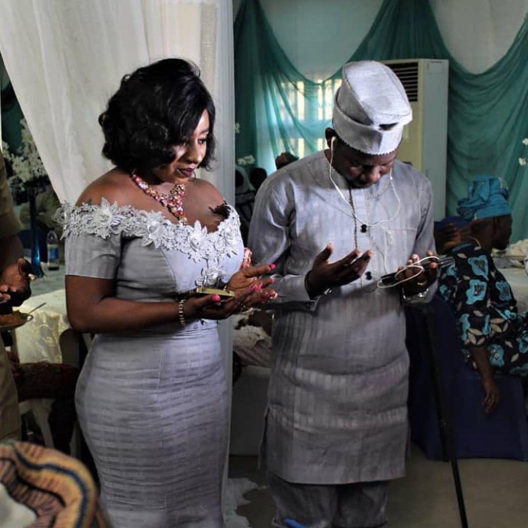 Mide Martins and Husband Afeez