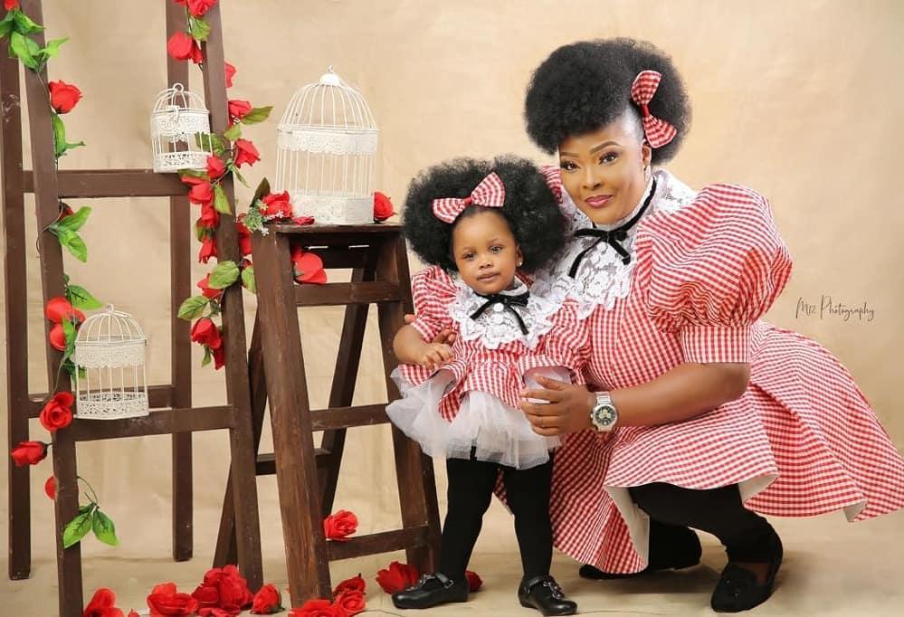 Ronke Odusanya and daughter
