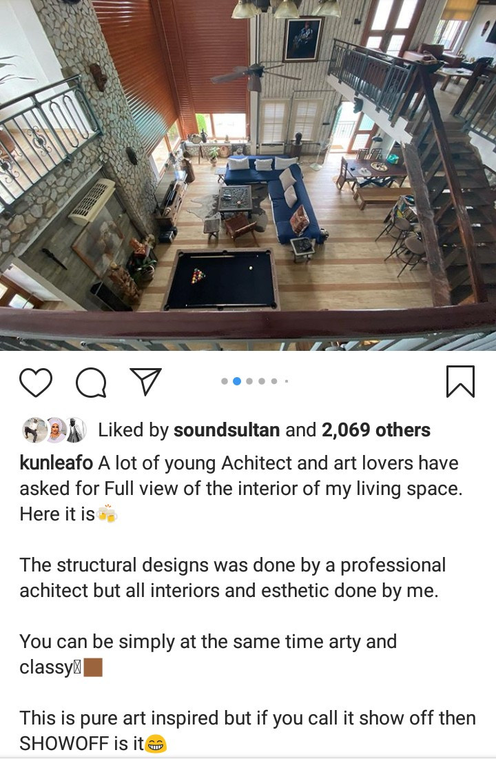 Kunle Afolayan shows off the interior of his home (photos)