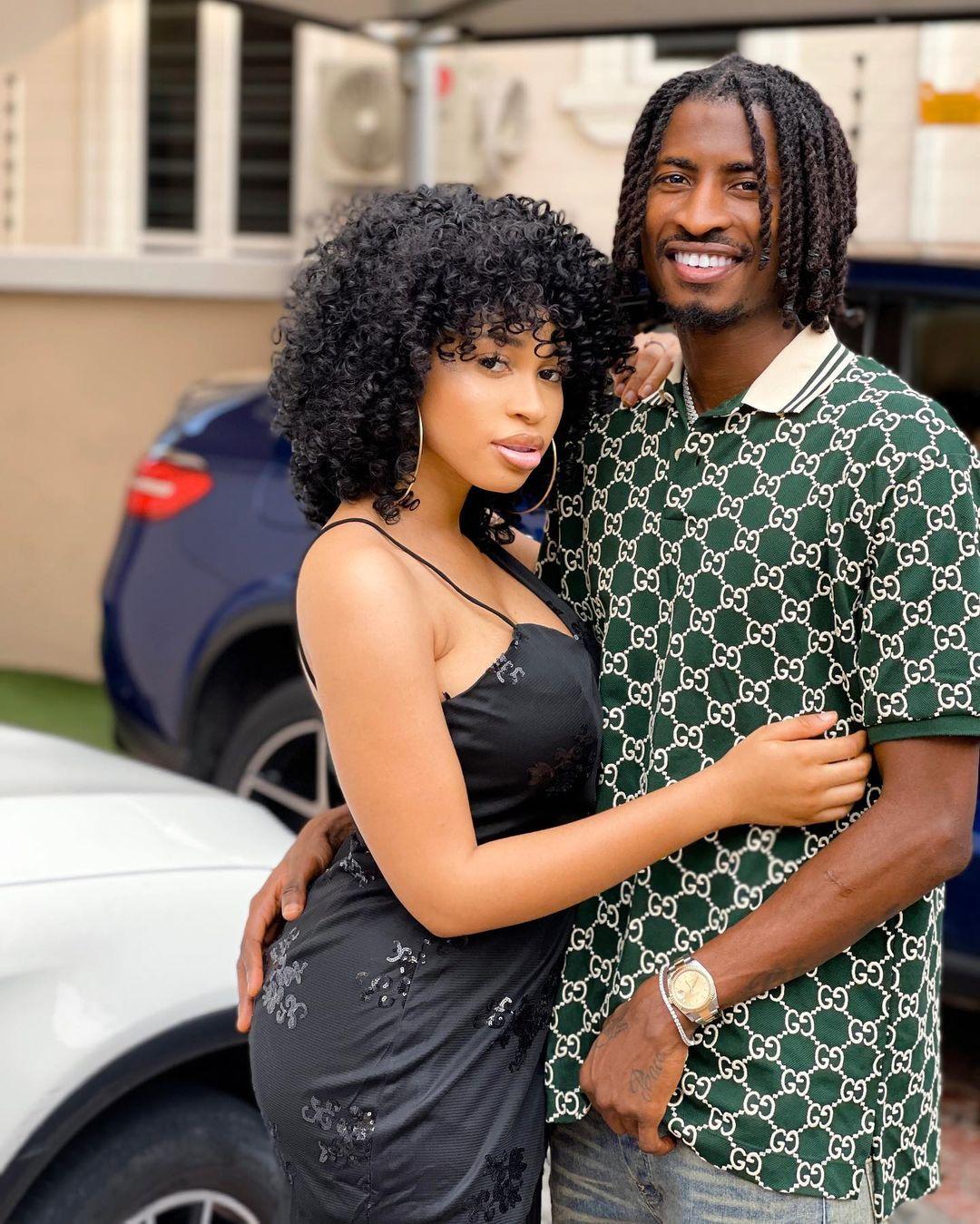 Peter Olayinka and his fiancée, actress Yetunde Barnabas