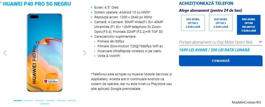 Huawei P40 Pro 5G DIGI VoLTE