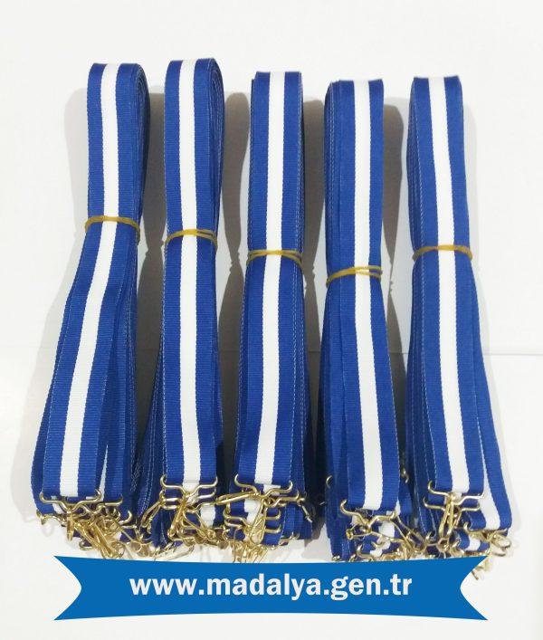 mavi-beyaz- madalya kurdelesi