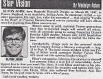 Celebrity Prediction: Elton John