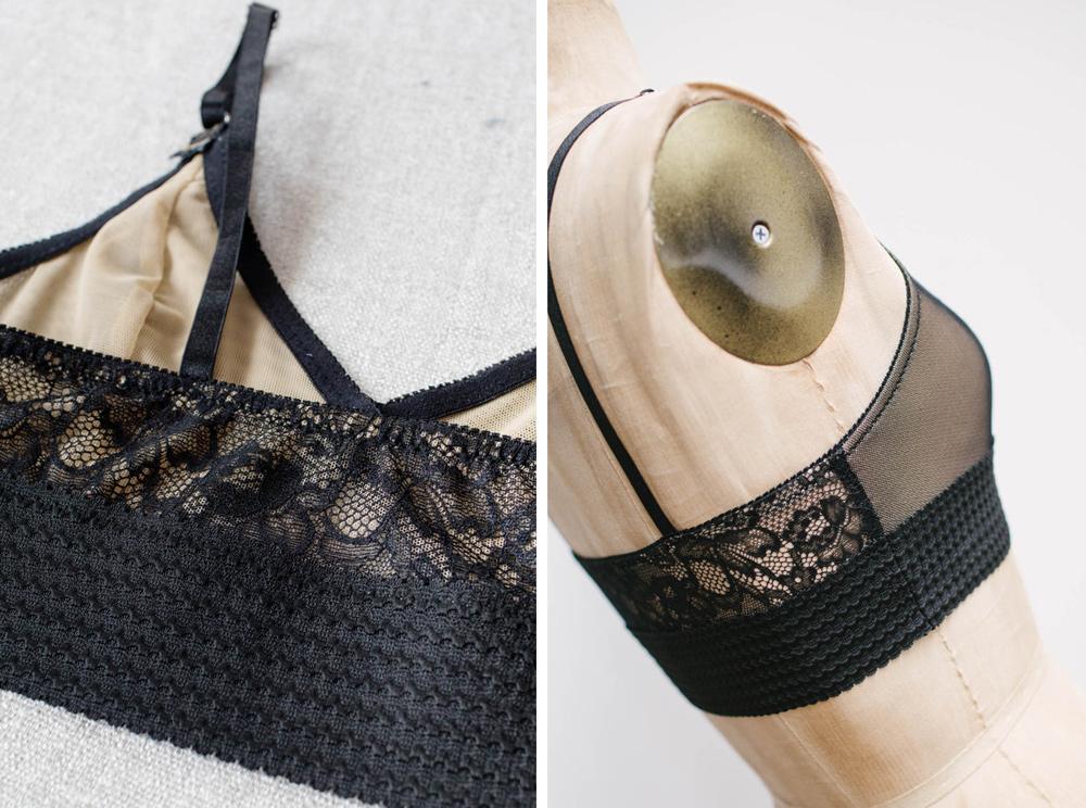 DIY black lingerie by Madalynne Intimates