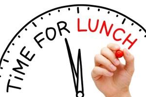 Heure de la pause déjeuner