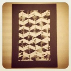 Stoff bedrucken Dreieck