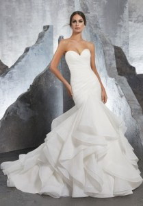 Bridal dresses and beautiful wedding gowns for bridal happiest day     Mori Lee 5604 Karina Strapless Sweetheart Wedding Gown
