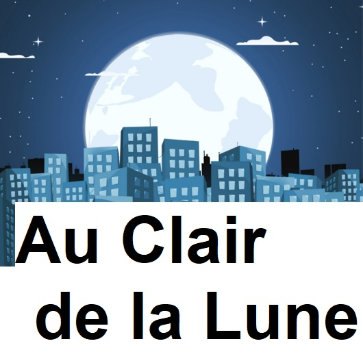 Vocabulary Set image for AU CLAIR DE LA LUNE, accompanies the AU CLAIR DE LA LUNE song video