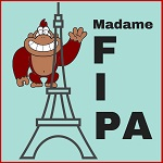 Madame Fipa French Puzzle Club logo, 150 pixel square