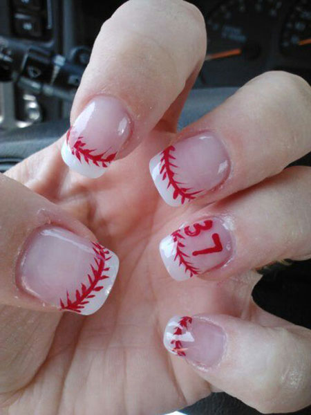 20 baseball nail art designs