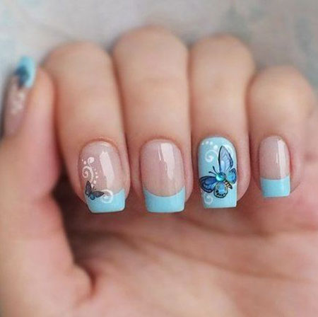 Nail Manicure Butterfly Designs