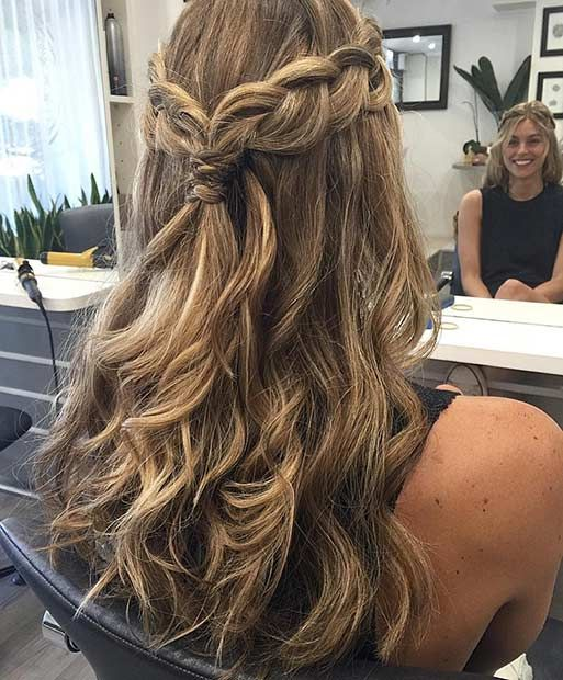 Prom Hairstyles For Long Hair Half Up Half Down Madame Friisuren
