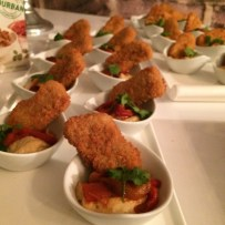 Fry's Chicken Style Nuggets with Hummus and Marinated Roast Peppers