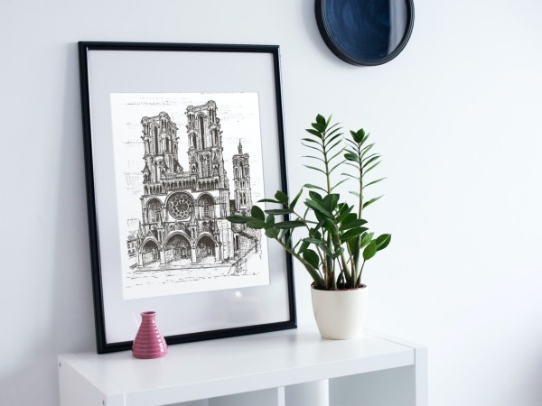 Laon Cathedral print