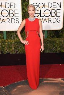 Jennifer Lawrence: vestido de Dior y joyas de Chopard