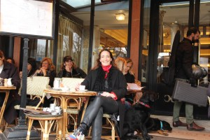 Marie de la Ville Bauge Artist interview cafe paris