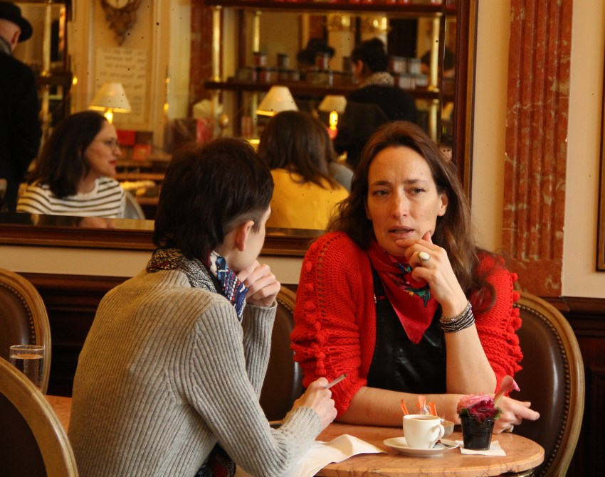 Marie de la ville Bauge Interview talk Paris cafe