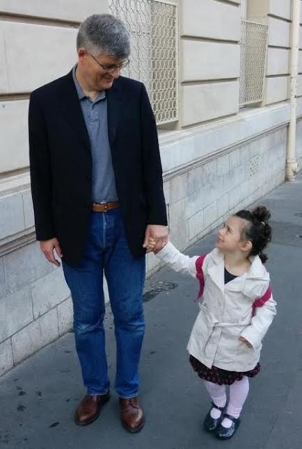 Marine Baron French Writer Husband and daughter